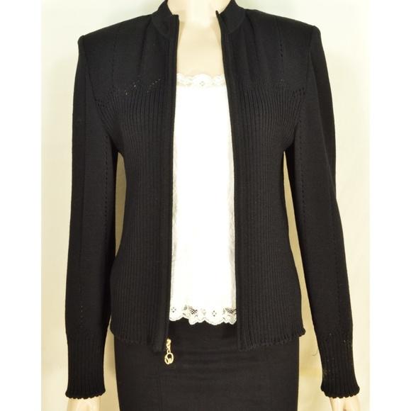 St. John Sport by Marie Gray Jackets & Blazers - St John Sport Marie Gray jacket M black zipper fro